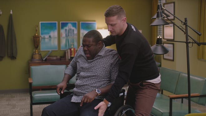 Sam Richardson (left) and Tim Robinson in episode three of Comedy Central's 'Detroiters.'