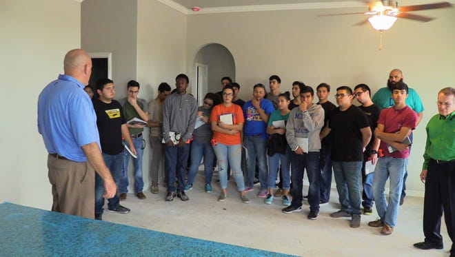 Construction classes from Moody High School went on an in-depth tour of the Braselton Homes construction site on Oso Creek. They got to examine homes in various stages of completion.