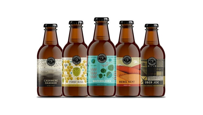 New designs for 3 Sheeps brews include the labels and the bottles.