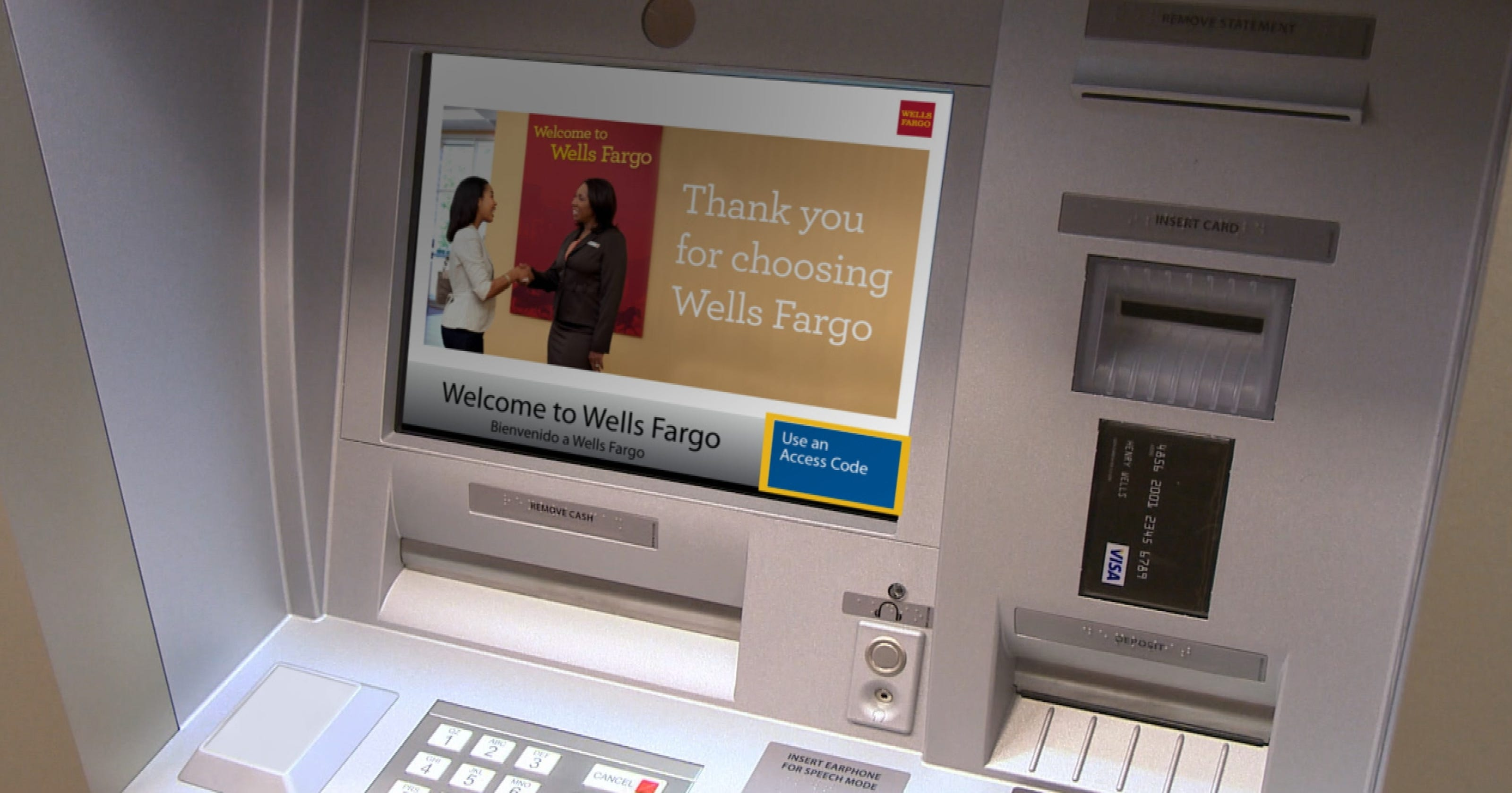 Wells Fargo introduces cardless ATMs