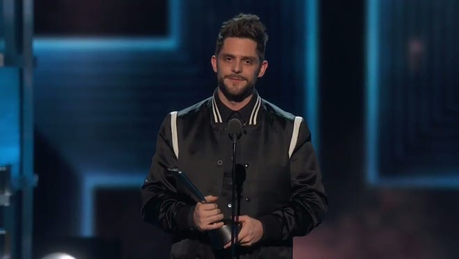 Thomas Rhett was stunned as he accepted the award for Male Vocalist of the Year at the ACM Awards.