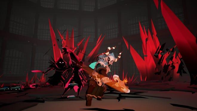 Necropolis: Brutal Edition features a unique low-polygon art style with simple colors.