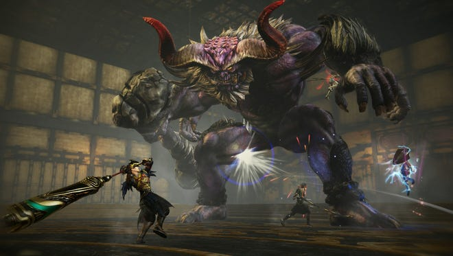 "Battle giant ""oni"" demons in Toukiden 2 for PC, PlayStation 4 and Vita."