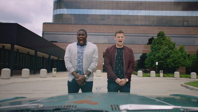 Sam Richardson and Tim Robinson in the season finale of Comedy Central's 'Detroiters.'