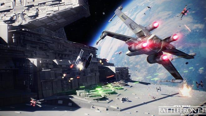 A scene from Star Wars Battlefront II.