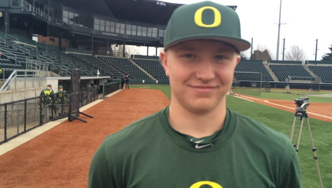 Oregon Ducks baseball player Gabe Matthews, from South Salem.