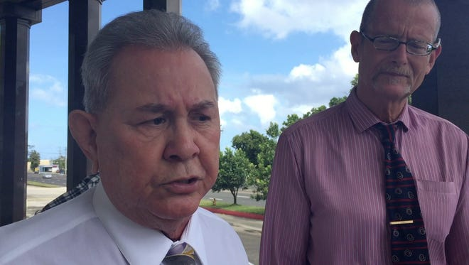 Attorney David Lujan outside the District Court of Guam, said the federal prosecutors are delaying his client's case. Lujan represents Mark Smith, former GHURA legal counsel who is accused of unlawfully receiving money as a Section 8 landlord while he was GHURA's lawyer.
