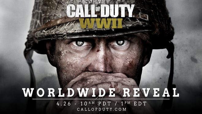 A teaser image for the next 'Call of Duty' video game, set during World War II.