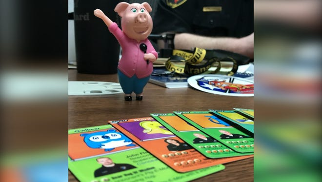 Aransas Pass Police Department puts the youth in a frenzy and betters community relations with Pig-E-Mon cards.