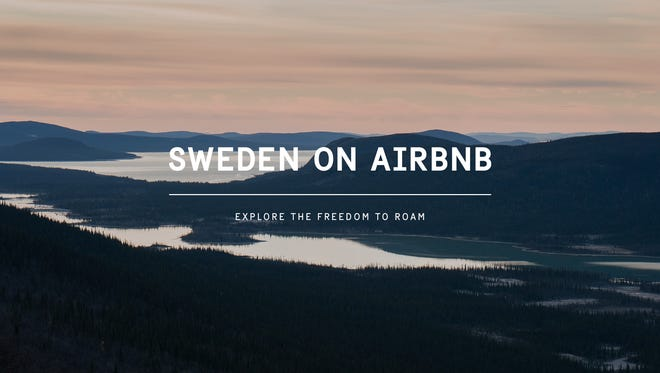 "An advertisement for Sweden and its ""right to roam"" law, on Airbnb, a campaign by Visit Sweden."