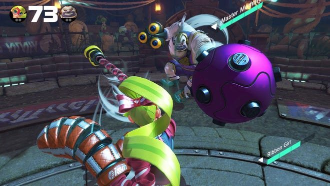 """""""Arms"""" for the Nintendo Switch launches June 16."""