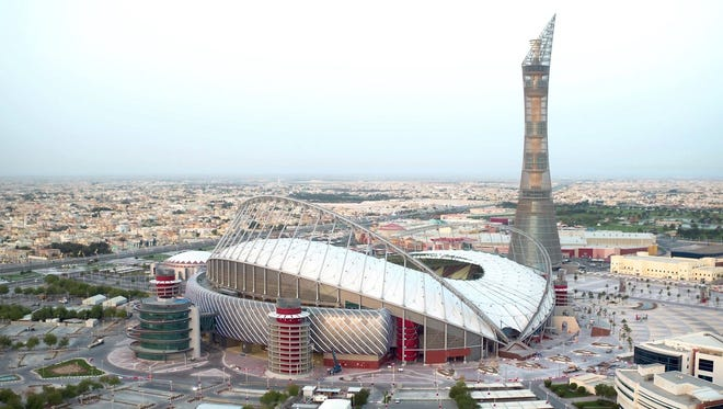 Khalifa International Stadium in Doha, the first completed 2022 World Cup venue, opened last month.