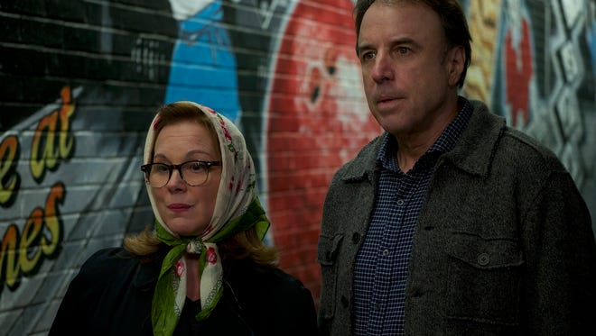 """Elizabeth Perkins and Kevin Nealon  in a scene from """" Super Sex"""" directed by Matthew Modine and screened at Palm Springs International ShortFest 2017."""