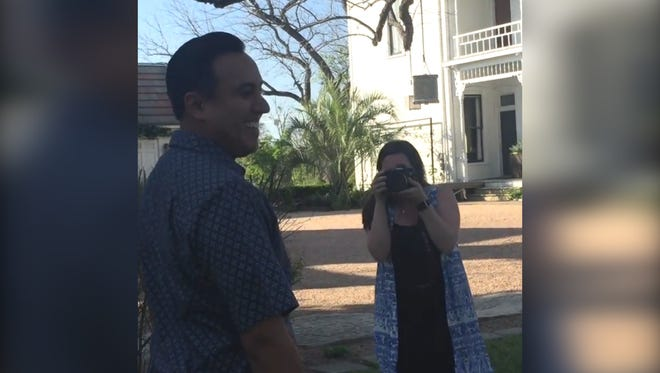 Rene Solis reacts to a surprise his wife planned for an entire month.