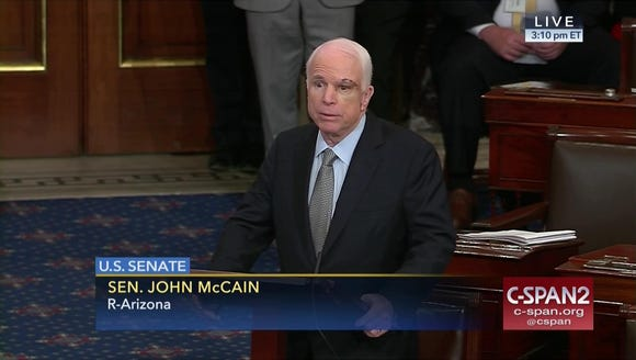 In this image provided by C-SPAN2, Sen. John McCain