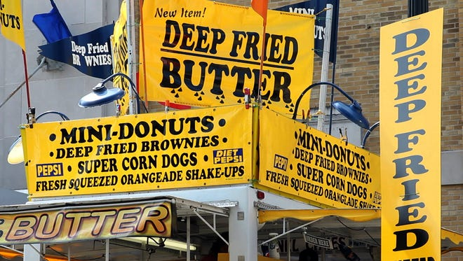 Nearly 300 different foods are served at the Indiana State Fair.