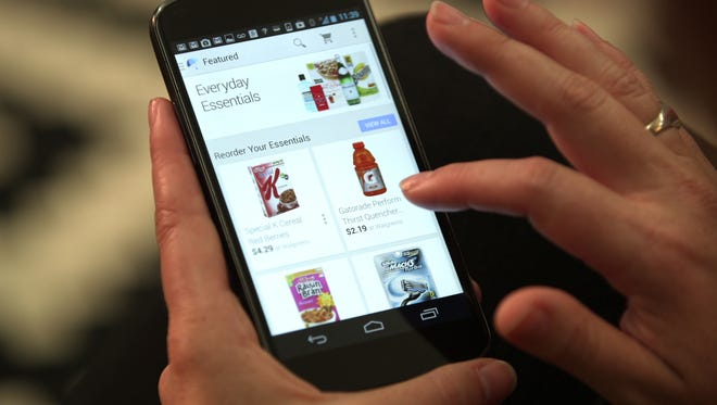 This undated product image provided by Google shows the Google Shopping Express mobile app.