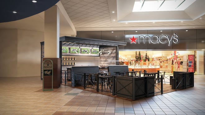 A rendering of what the beer kiosk in the Muncie Mall will look like.