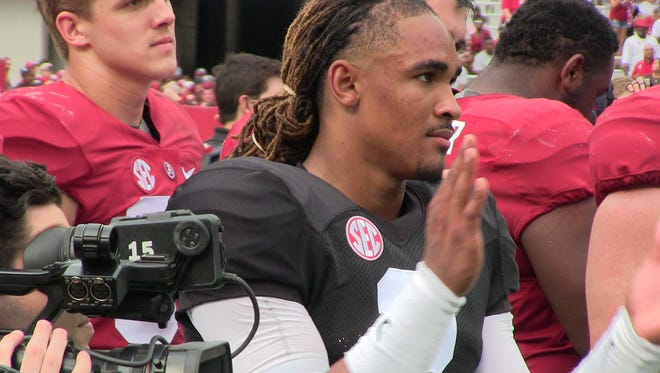 Quarterback Jalen Hurts accounted for 36 touchdowns as a true freshman last season at Alabama.