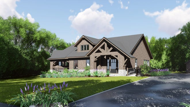 A rendering of the four-bedroom craftsman style group home that Bergen County's United Way is seeking to build on Glen Rock's Bungalow Row at 15 Bradford Street.