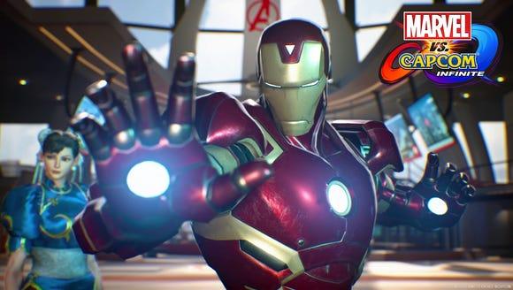 Iron Man appears in a scene from 'Marvel vs. Capcom: