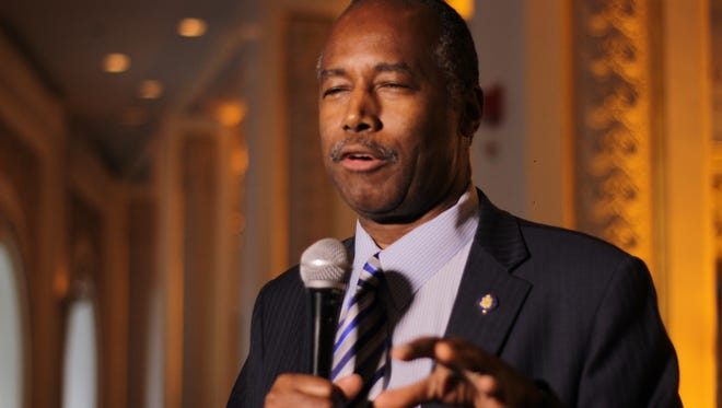 Housing and Urban Development Secretary Ben Carson speaking at a Habitat for Humanity of Washington D.C. event on September 14.