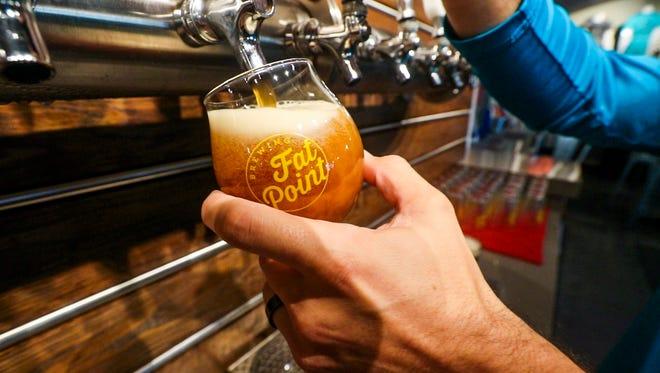 Pumpka Gourda is a seaonal beer from Fat Point in Punta Gorda.