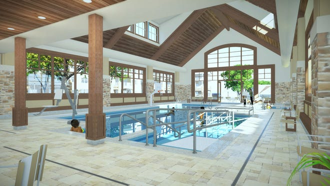 """Shorehaven Health and Fitness includes a A 56x32-foot pool for aquatic classes, """"water walking"""" and personal swim time."""