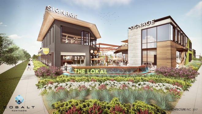 This is an aartist rendering of The Lokal, a cluster of unique restaurants and craft breweries that will come to 84South at 84th Street and Layton Avenue
