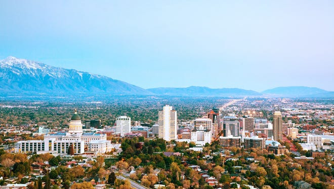 Salt Lake City, Utah is shown.
