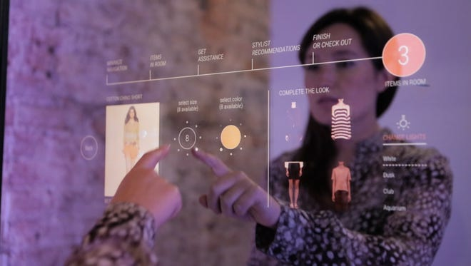 MasterCard, in a pop up with Marie Claire and Neiman Marcus, showcased technology that allowed shoppers to make purchases by tapping a mirror.