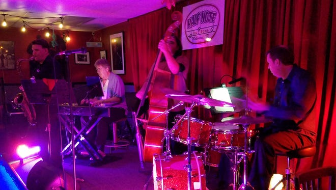 The JD Daniel Quartet performs at the Half Note Jazz Room in Melbourne..