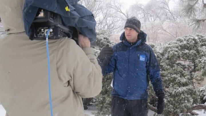 Weather Channel reporter chats about Jim Cantore plus snow storm essentials (like beer)