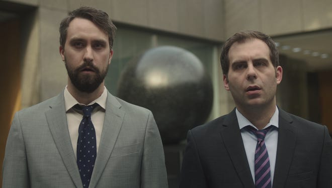 Matt (Matt Ingebretson) and Jake (Jake Weisman) may not exactly be poster boys for executive recruitment in Comedy Central's 'Corporate.'