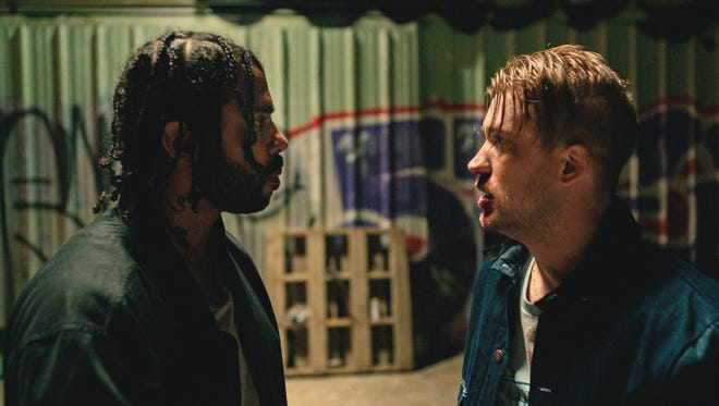 Lifelong friends Collin (Daveed Diggs, left) and Miles (Rafael Casal) are forced to confront systemic discrimination in modern-day Oakland, Calif., in the Sundance dramedy 'Blindspotting.'