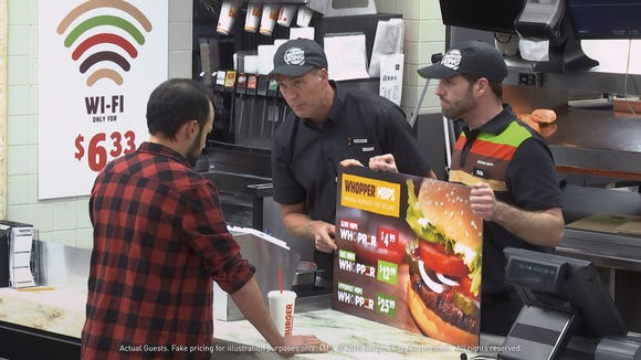 An image from Burger King's net neutrality experiment.