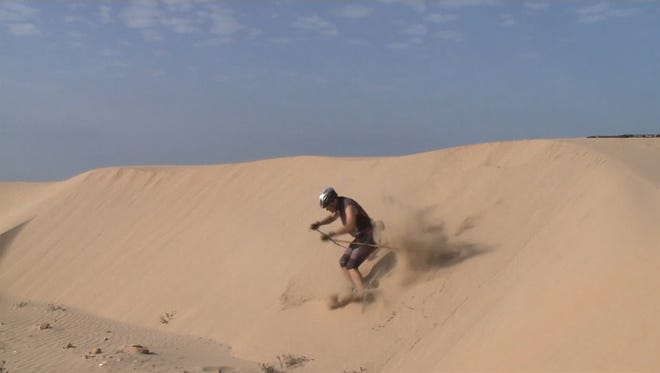 Samir Azzimani, Moroccan skier, trains in the desert for the 2018 Winter Olympics.