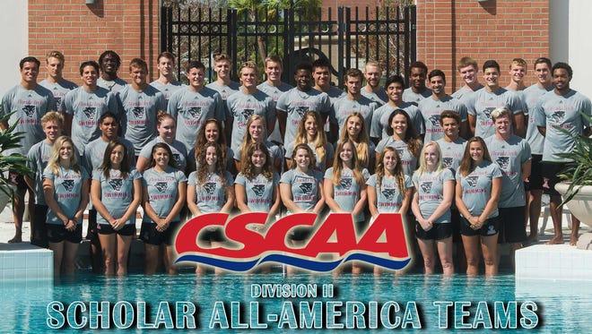 Florida Tech Swimming Scholar All-America