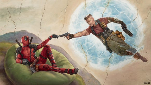 Ryan Reyolds as Deadpool and Josh Brolin as Cable.