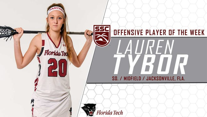 Lauren Tybor has been named Sunshine State Conference Offensive Player of the Week.