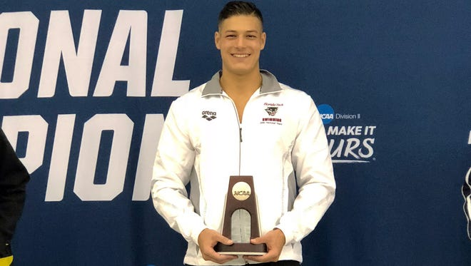Victor Rocha Furtado of Florida Tech swimming took second place in 50-yard freestyle at the Division II National Championships.