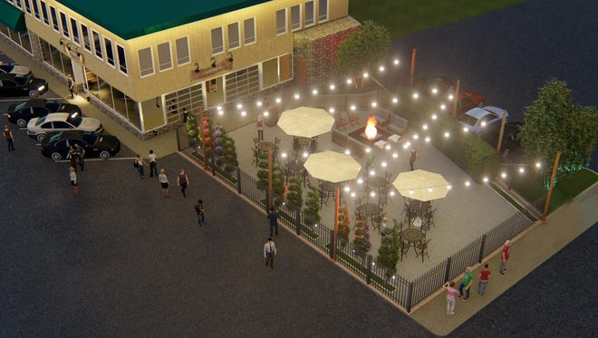 A rendering shows what the patio outside Zisters, 13425 W. Watertown Plank Road in Elm Grove, could look like if approved by the village. The brunch restaurant, taking the place of Penelope's family restaurant, could open as soon as May.