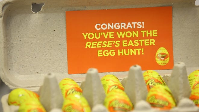 Reese's pranked shoppers at the Northvale NJ ShopRite just in time for April Fool's Day and Easter.