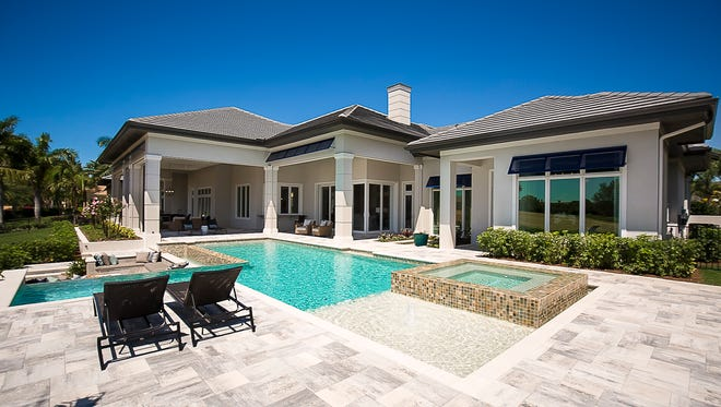 The Calusa model was one of three grand estates by thedeveloper and luxury homebuilder to sell at Quail West in 2017.