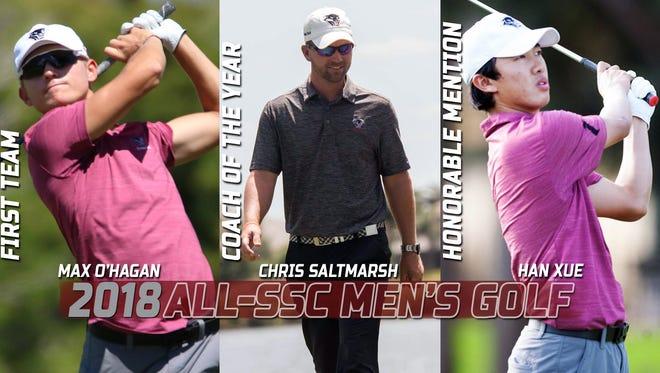 Florida Tech men's golf head coach, players named All-SSC.