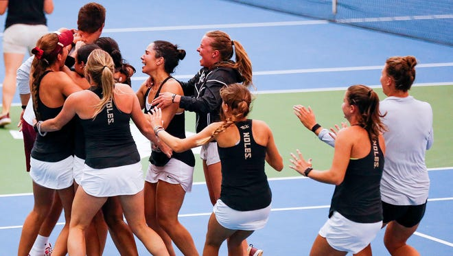 The FSU women's tennis team is onto the Elite Eight for the first time in program history.
