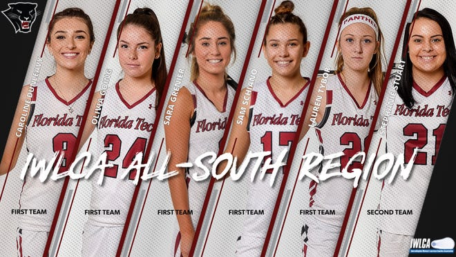 Florida Tech women's lacrosse players named IWLCA All-Region.