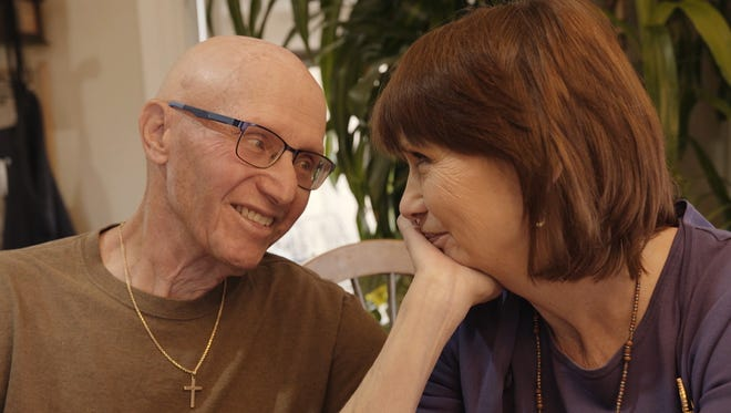 Bonny Lepore (right) with her husband, Ron, who was diagnosed with Alzheimer's earlier this year at 74-years-old.