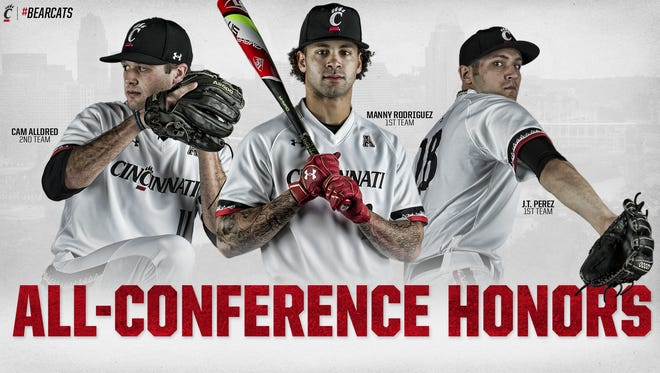 Manny Rodriguez was among three Bearcats earning all-AAC honors.