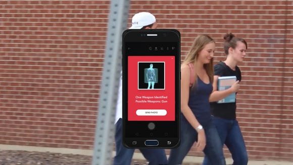 The Sword weapon scanning smartphone case.